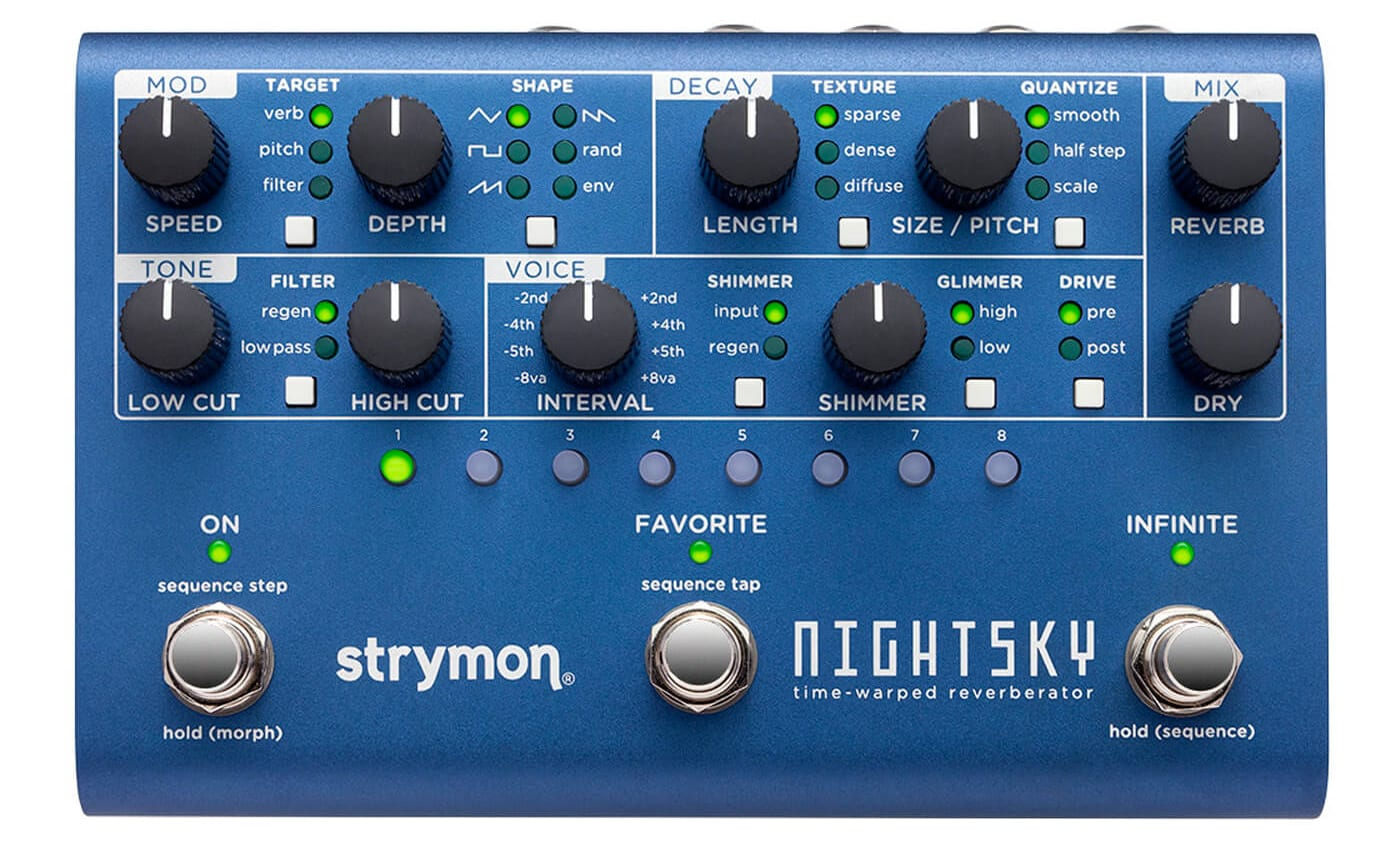 Strymon NightSky a reverb with analogue-synth inspired control