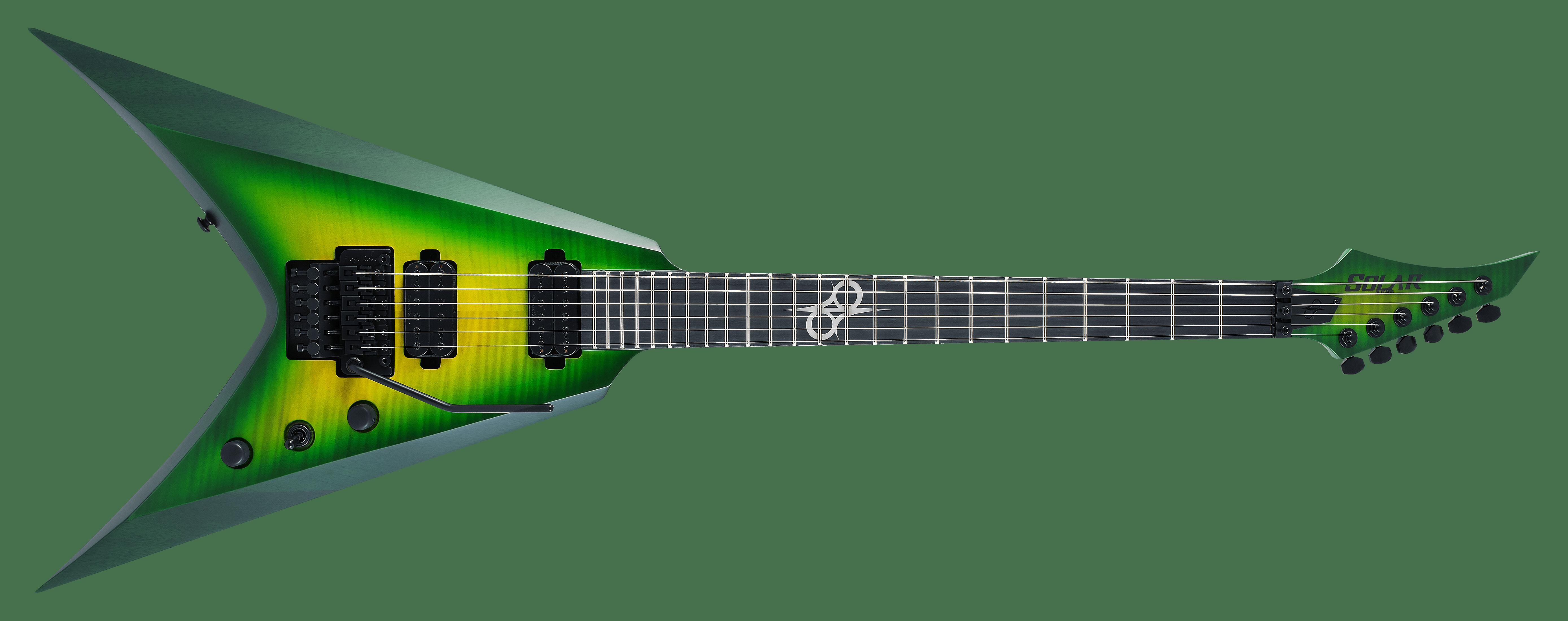 Solar Guitars Lime Burst V1.6