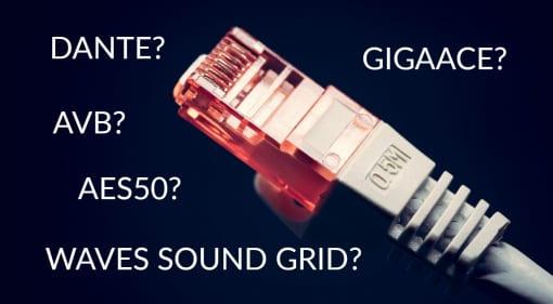 Audio Networking Dante AES50 AVB