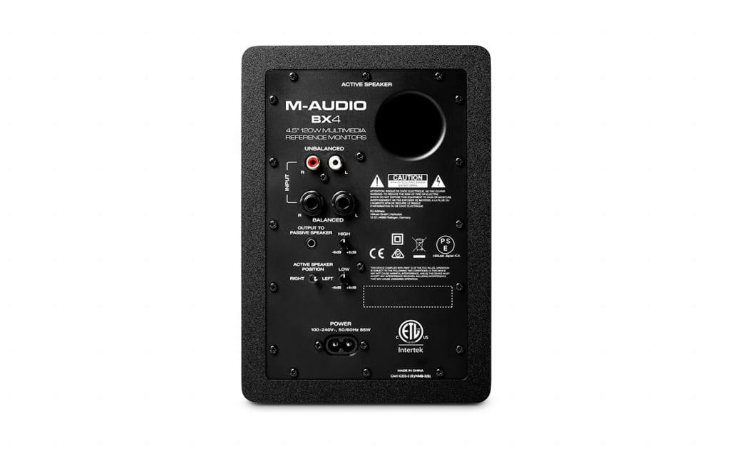 M-Audio BX4 - rear