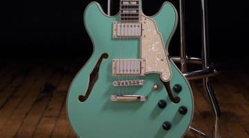 D'Angelico Guitars Deluxe Mini DC Limited Edition a smaller semi-hollow model