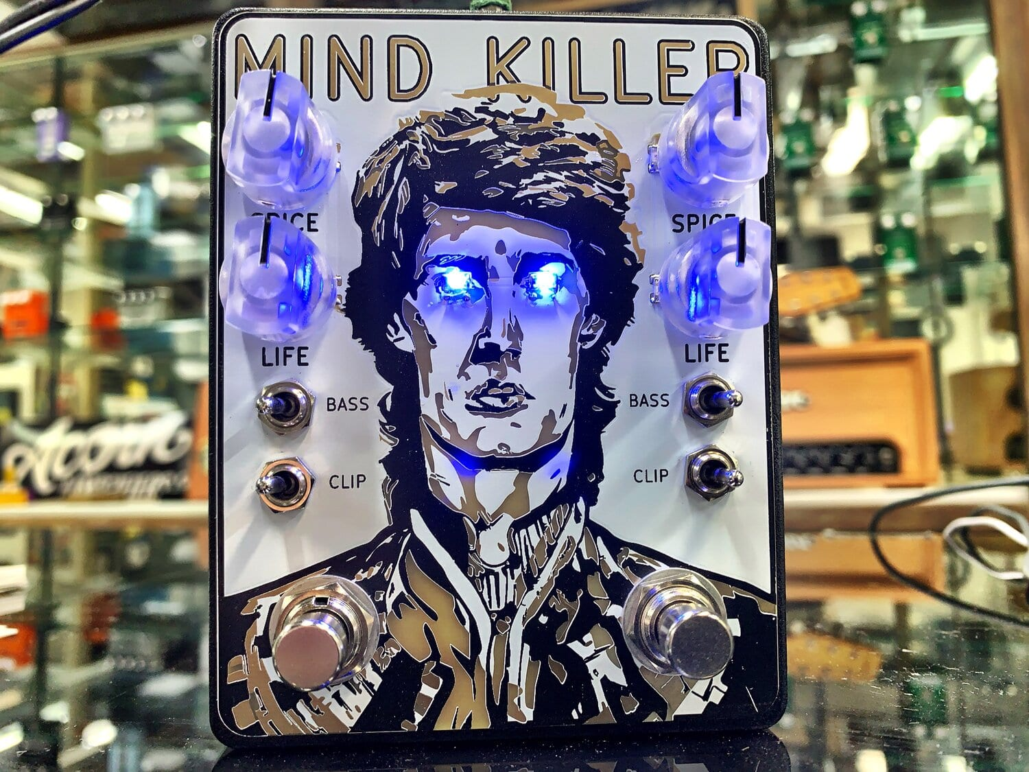 Acorn Amps Mind Killer Dual Distortion with Blue LED eyes!