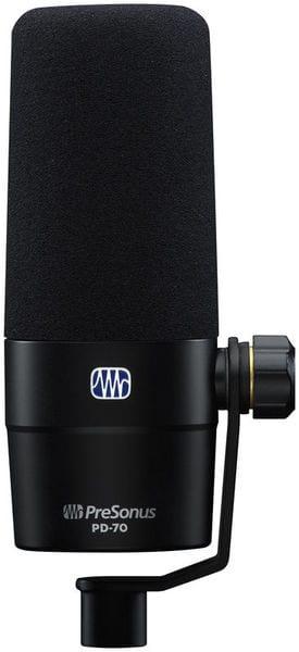 PreSonus PD70 Broadcast Mic - front