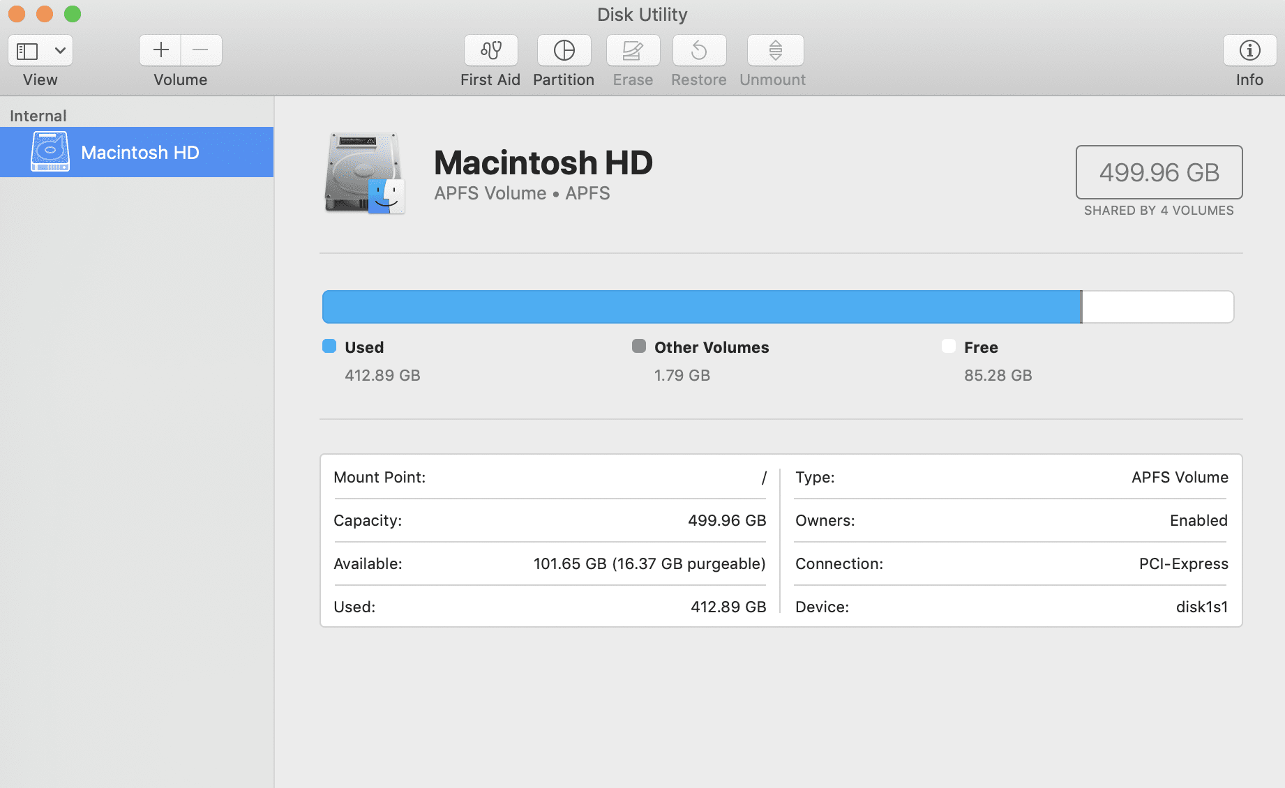 Apple's Disk Utility application