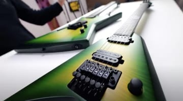 Solar Guitars adds Lime Burst models to the E1.6 and V1.6 models with hints of Dime Slime