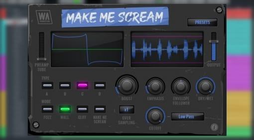 WA Production Make Me Scream distortion plug-in