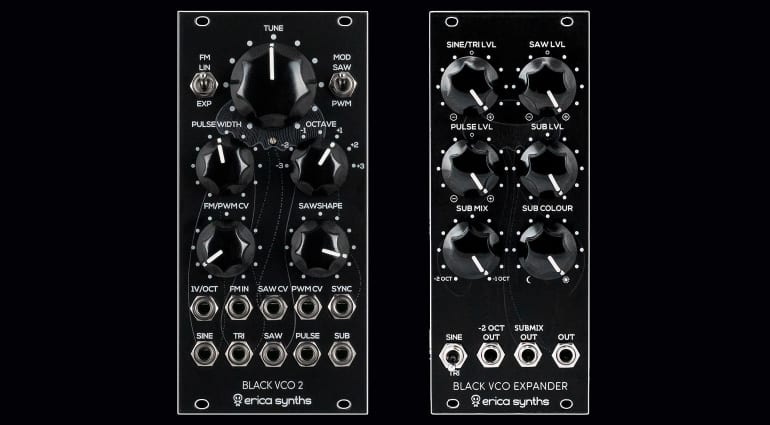 Erica Synths Black VCO2 and Expander