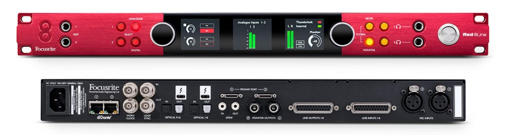 Focusrite Red 8Line with Dante connector