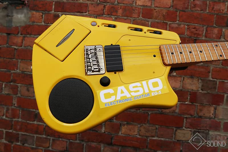 Casio EG-5 in yellow. The holy grail of plastic guitars?