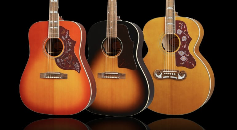 Epiphone's Inspired By Gibson Hummingbird, J-45 and J-200