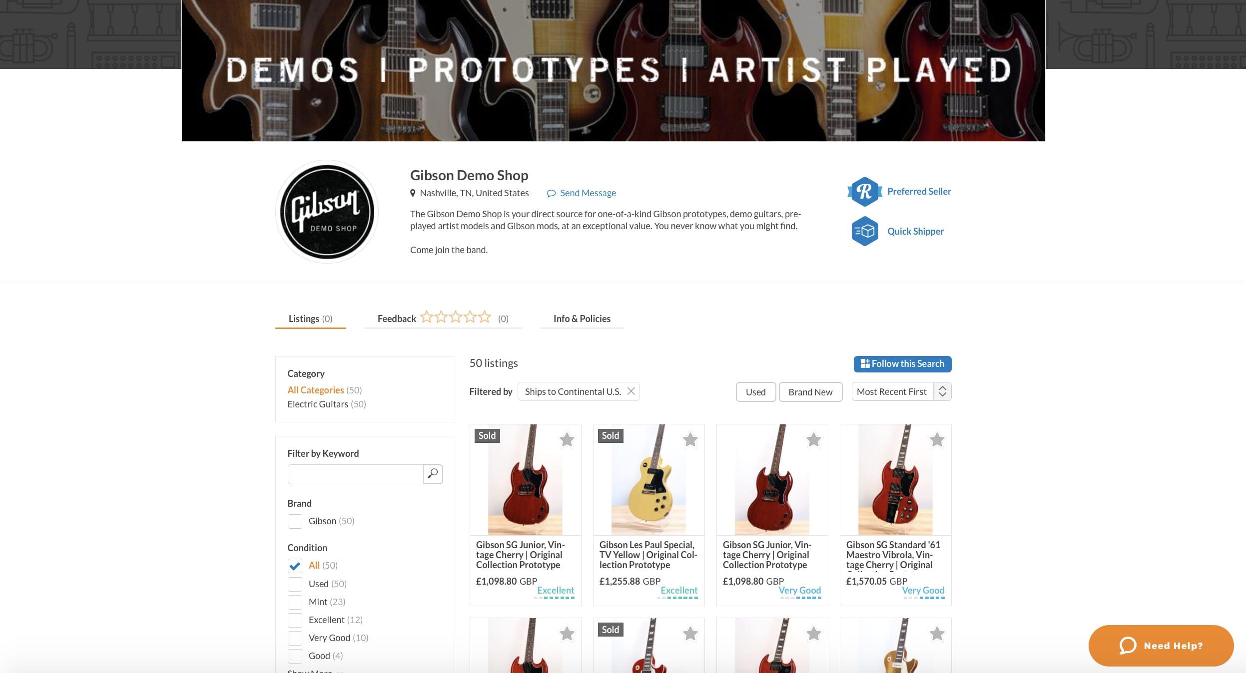 Gibson Demo Shop