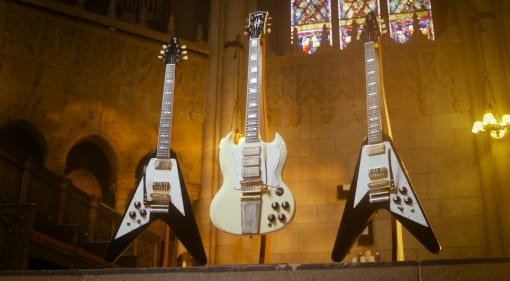 Gibson Jimi Hendrix '67 SG Custom and '69 Flying V