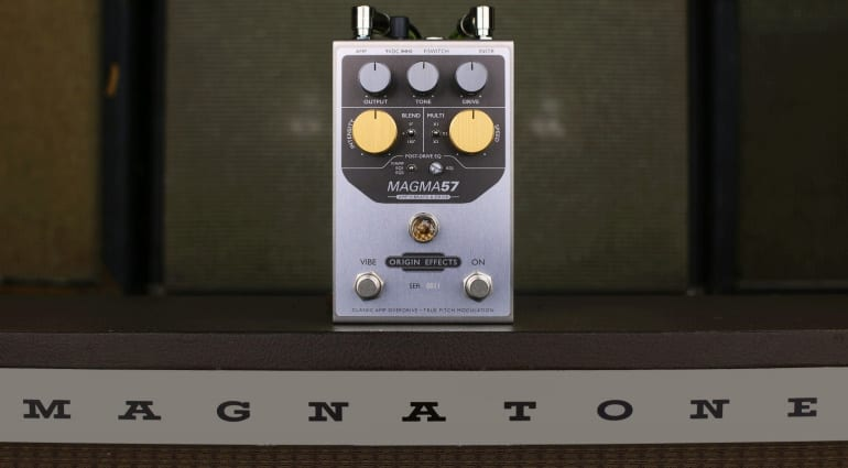 Origin Effects MAGMA57 attempts to capture the Magnatone 200 amp tone in a pedal