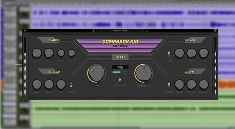 baby audio comeback kid delay plugin GUI