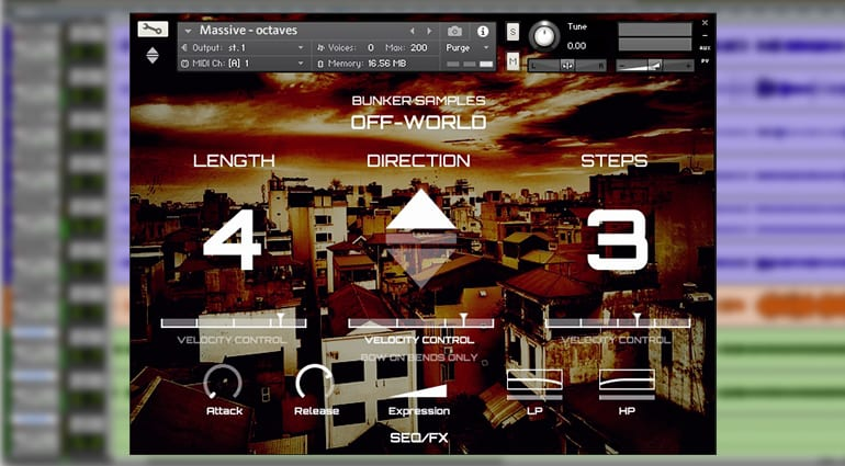 bunker samples off world vol1 sample pack GUI