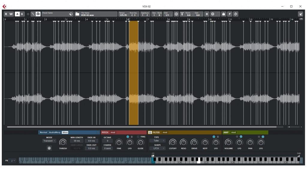 Cubase Pro 11 Sampler Track