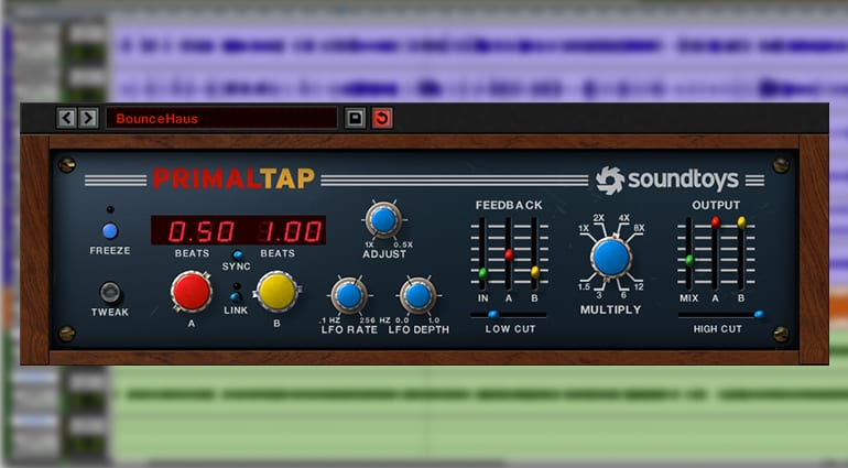 soundtoys primaltap delay plugin GUI