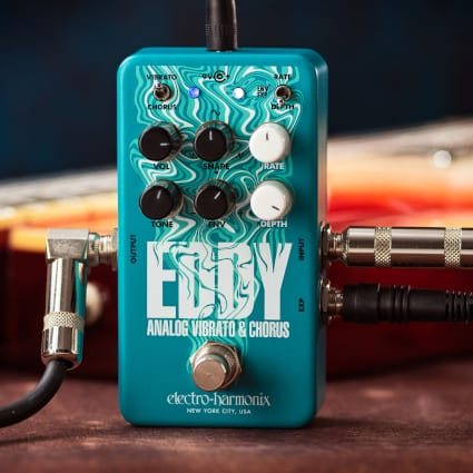 Electro-Harmonix Eddy, a BBD vibrato/chorus effect