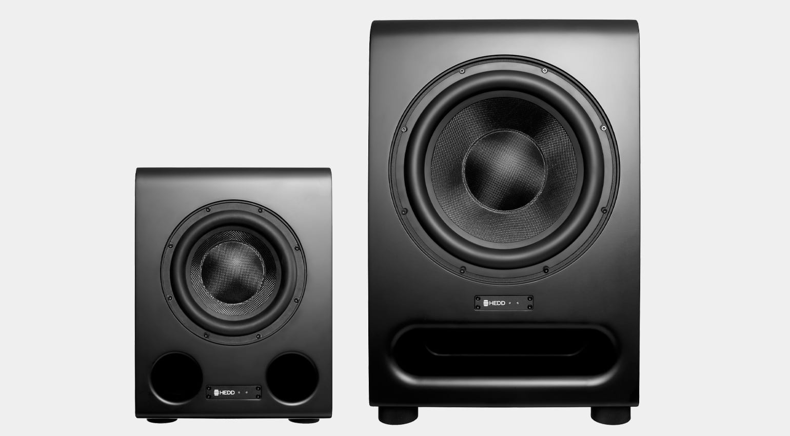 HEDD BASS 08 and BASS 12 subwoofers