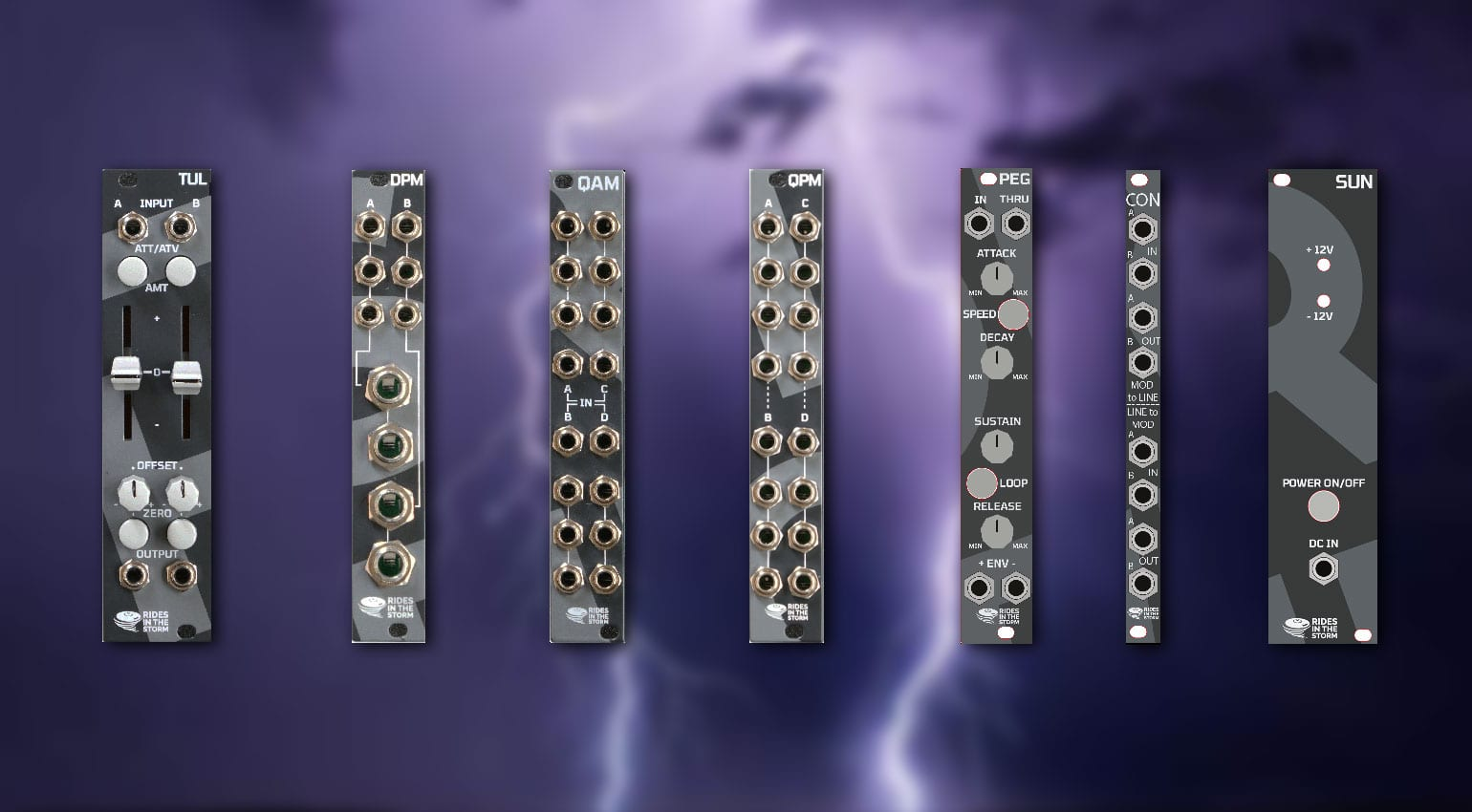 Rides in the Storm: New Industrial style Eurorack Modules