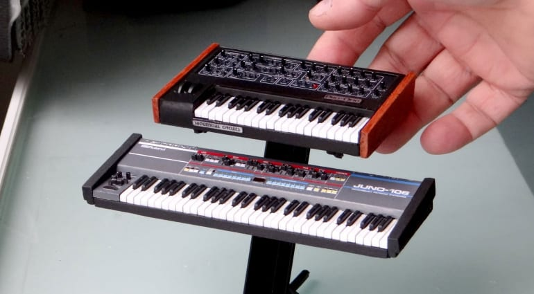 Miniature synths