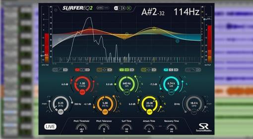 soundradix surfereq2 dynamic eq plugin GUI