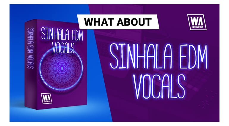 w a production sinhala edm vocals sample pack artwork