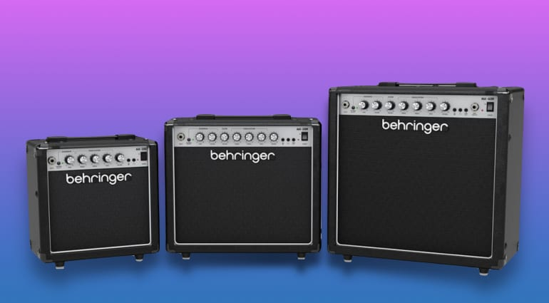 Behringer HA Series practice amps with Virtual Tube Circuit