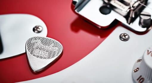 Fender 75th Anniversary Sterling Silver Pick