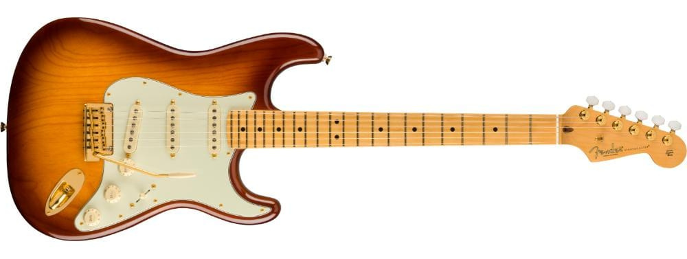 Fender 75th Anniversary Stratocaster 2-Color Bourbon Burst1