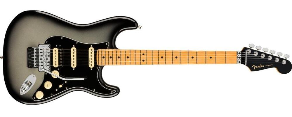 Fender American Ultra Luxe Stratocaster Floyd Rose HSS Silverburst1