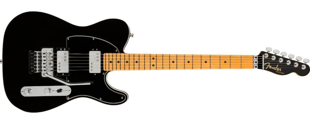Fender American Ultra Luxe Telecaster Floyd Rose HH Mystic Black