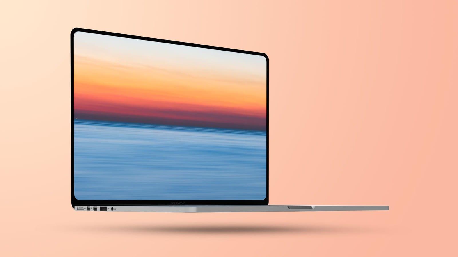 Flat 2021 MacBook Pro mockup