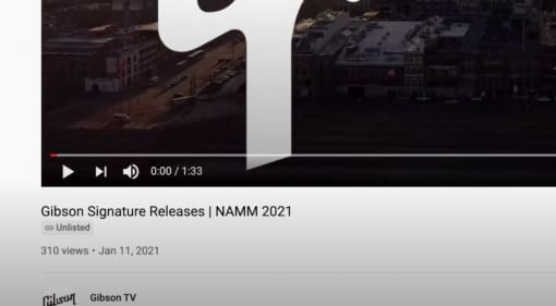 Gibson Signature Release 2021 video leaks online