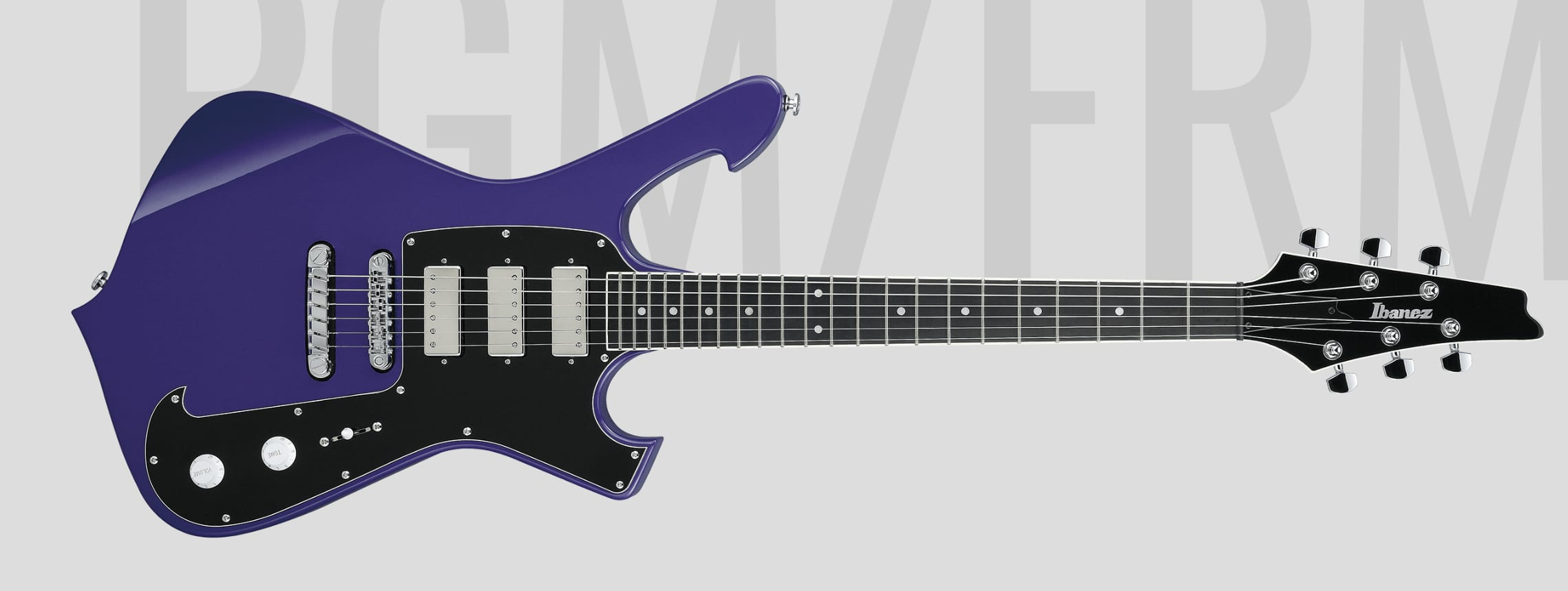 Ibanez Paul Gilbert PGM FRM300 a luscious purple shredder with style