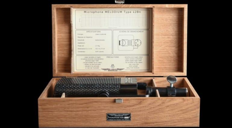 Micrófono de cinta Melodium 42Bn destacado