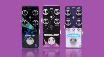 Pigtronix Space Rip, Constellator and Moon Pool effects pedals