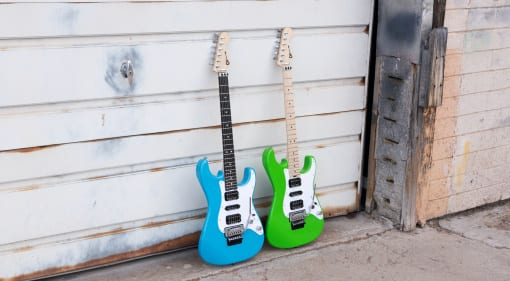 Charvel Pro Mod So Cal HSH Robin's Egg Blue and Slime Green