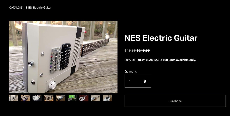 Scam Site offering NES Guitar