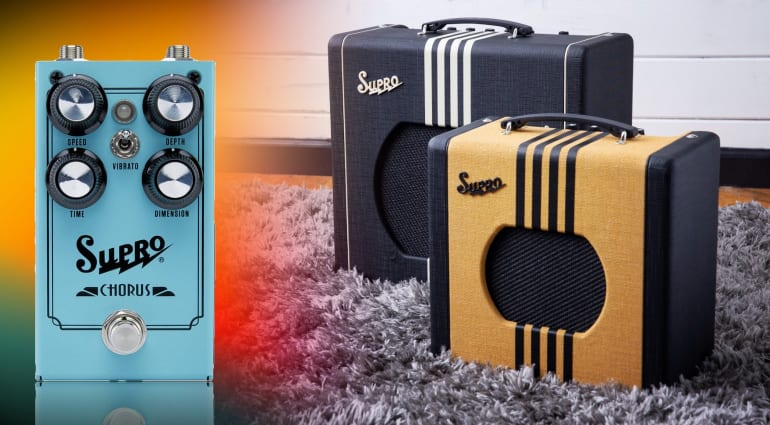 Supro Delta King, Keeley Custom 12 and analog chorus
