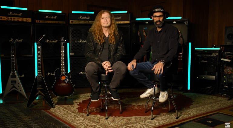 Gibson's Cesar Gueikian and Dave Mustaine