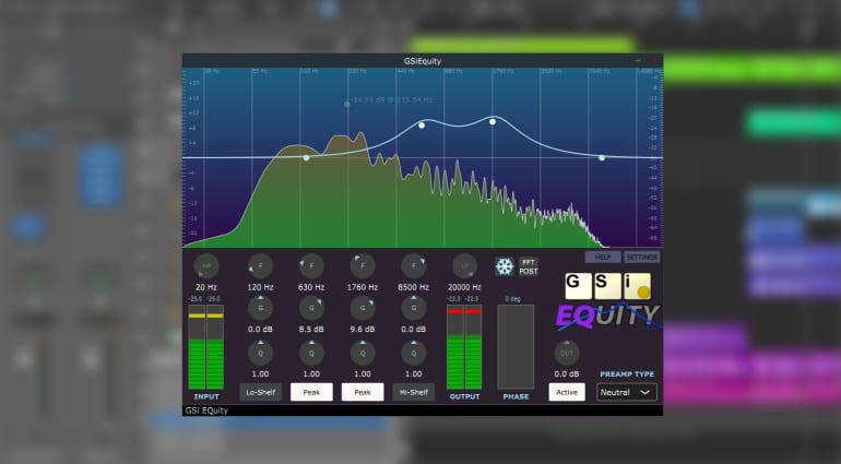 Equity equalizer plug-in