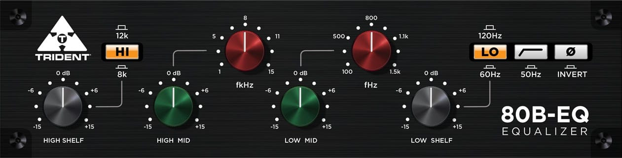 Trident turns its CB9066 and 80B hardware equalizers into plug-ins!