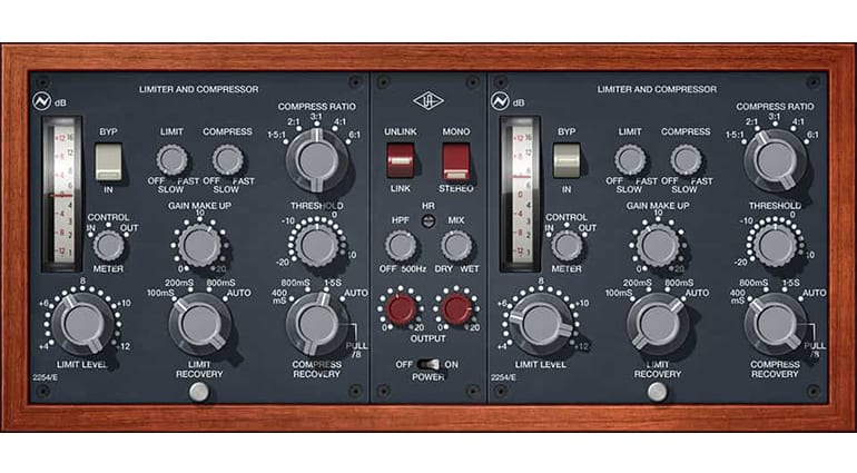 universal audio neve 2254 compressor plugin GUI