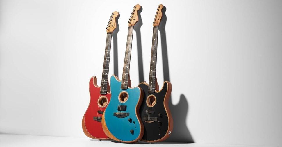 Fender American Acoustasonic models Stratocaster, Jazzmaster and Telecaster