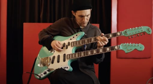 Fender Custom Shop Double Neck Marauder played by Josh Klinghoffer