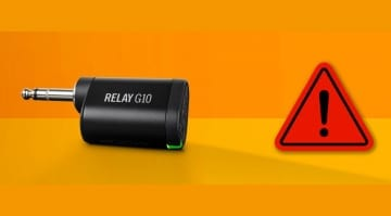 Line 6 issues Safety Warning for Relay G10 Wireless systems