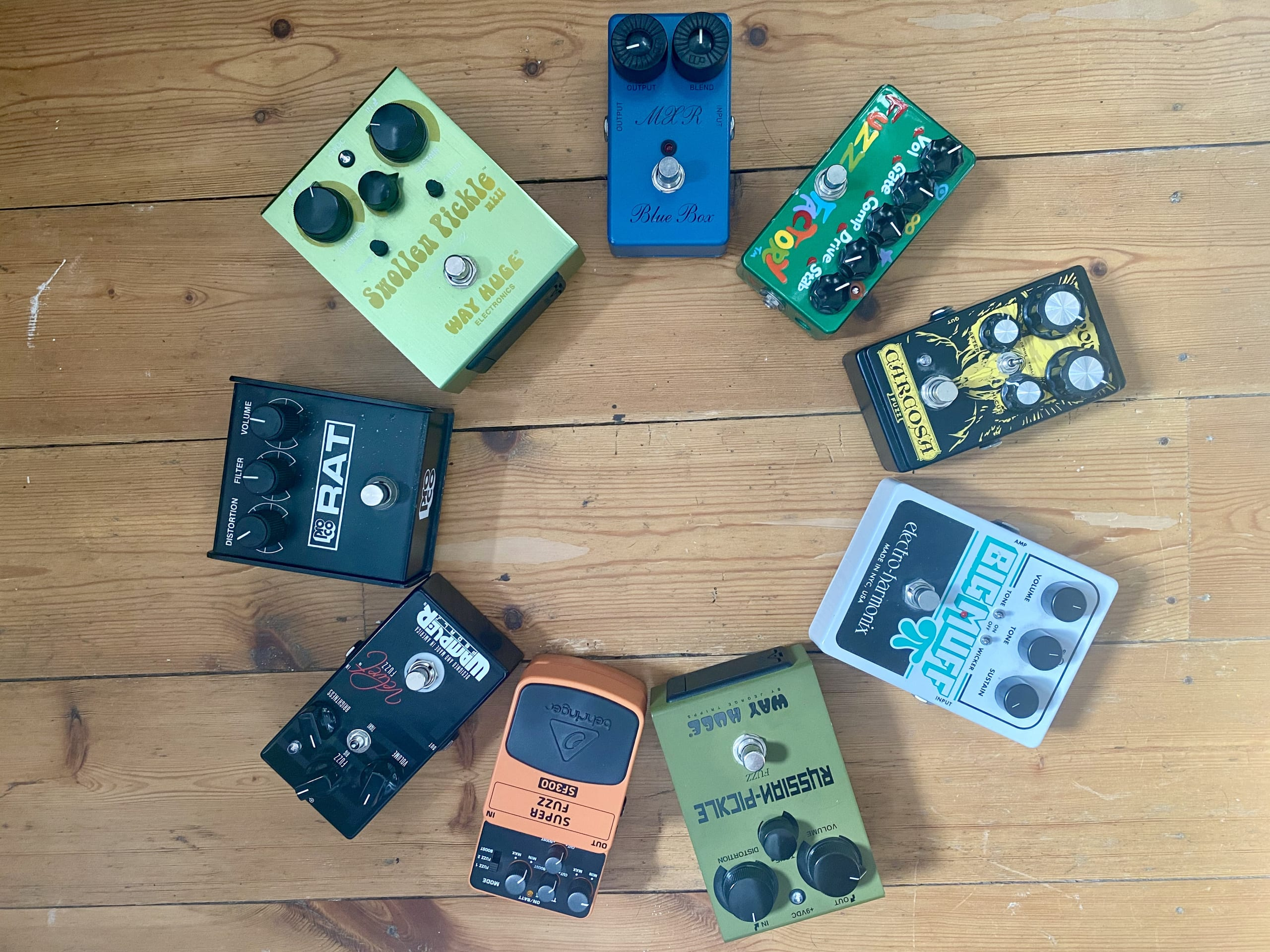 Some of my favourite fuzz boxes