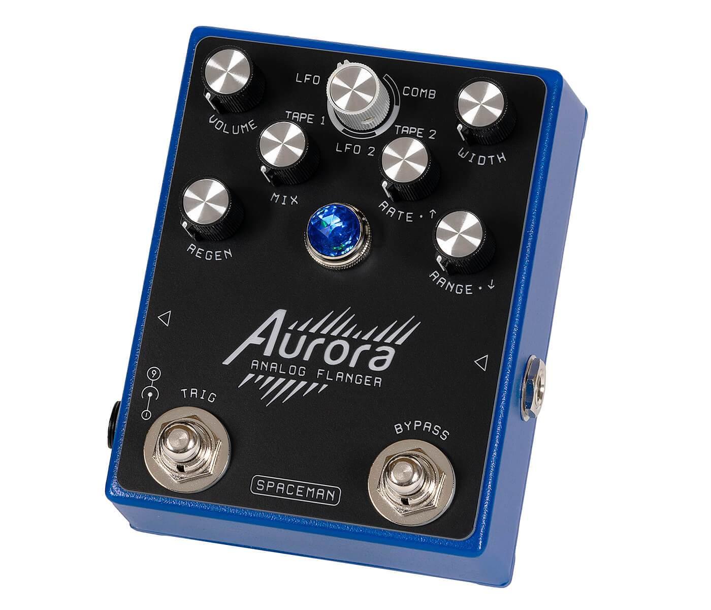 Spaceman Effects Aurora Analog Flanger Blue