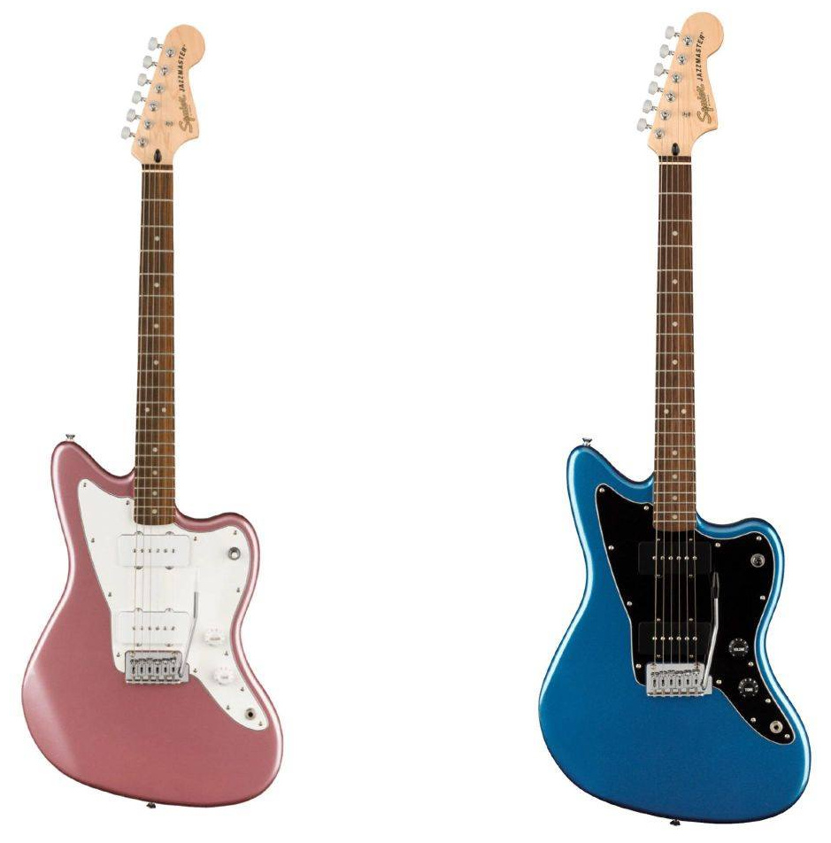 Squier Affinity Series Jazzmaster in Lake Placid Blue and Burgundy Mist